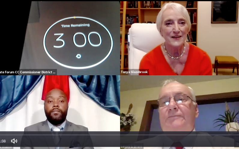 District 1 candidates Kevin Walker (left) and Lannie Brant participated in a virtual forum Sept. 16 moderated by Tanya Glazebrook.