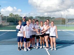 St. Marys Middle School tennis team wins region championship.