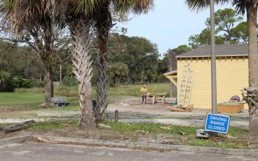 The driving range at the Fernandina Beach Golf Club is temporarily closed to facilitate construction of Toptracer, an arcade-type game. The city is hoping the $600,000 spent to build the facility will help the golf club become financially self-sustaining. JULIA ROBERTS/NEWS-LEADER