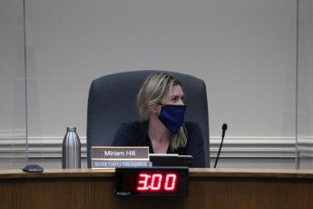 Ocean Highway and Port Authority Commissioner Miriam Hill, left, lost her argument against hiring a former commissioner as interim port attorney, as the commission voted to hire Bob Sturgess.