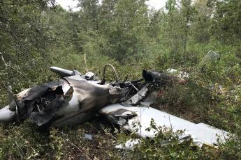 The wreckage of the small airplane that crashed in Hilliard Monday. Photo courtesy Nassau County  Sheriff's Office