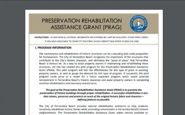 The instructions to apply for a Preservation Rehabilitation Assistance Grant and the applications are available on the city's website at fbfl.us/PRAG.