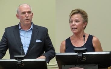 Will Wiest, hotel manager at The Ritz Carlton, Amelia Island, and Lisa West, owner of the Addison on Amelia, were selected Wednesday to serve on the Amelia Island Tourist Development Council's Board of Directors. JULIA ROBERTS/NEWS-LEADER