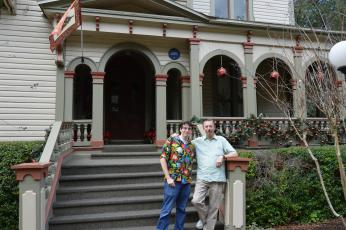 Rob Batterton and his son, Flint, are the new owners of the Fairbanks House, a historic and popular bed and breakfast on South Seventh Street. The two, along with Rob's wife, Yvonne, came to Fernandina Beach from Redwood City, Calif.