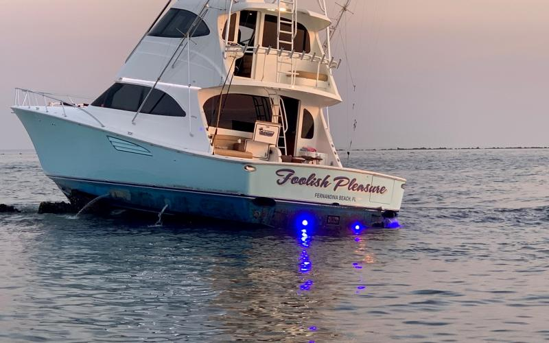 A yacht hit the jetties on Sunday morning. Everyone aboard was rescued.  Nassau County Sheriff's Office