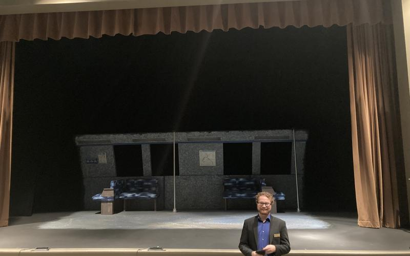 "ACT Executive Director Tener Wade in front of the ACT main stage. ""ACT is not only theater created for the community, but theater that's created by the community, Wade said. DILLON BASSE/SPECIAL TO THE NEWS-LEADER"