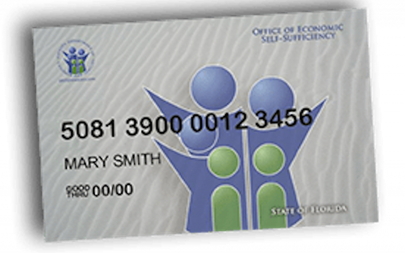 Graphic of generic SNAP benefit card.