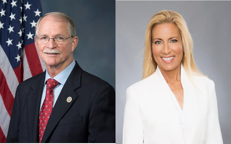 Incumbent John Rutherford, a Republican, beat Democratic challenger Donna Deegan, a longtime Jacksonville TV personality, for the U.S. House District 4 seat. JOHN RUTHERFORD / DONNA DEEGAN