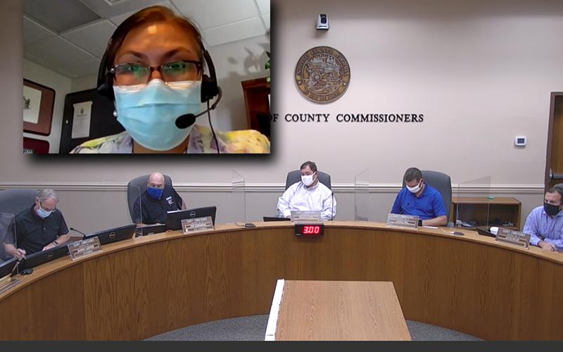 Dr. Eugenia Ngo-Seidel, the director of Florida Department of Health-Nassau, addressed the Nassau County Board of County Commissioners on Wednesday. BOCC
