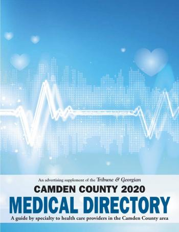 Cover of the 2020 Edition of the Tribune & Georgian Camden County Medical Directory