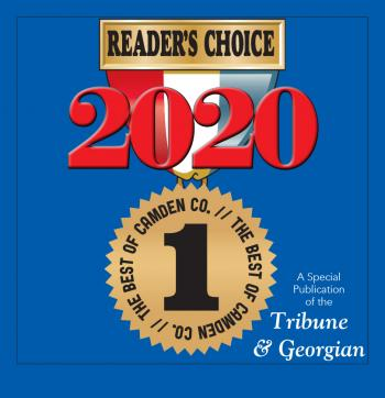 Cover of the Best of Camden 2020 Special Section; Image is of a Reader's Choice First-Place Ribbon on a Blue Background